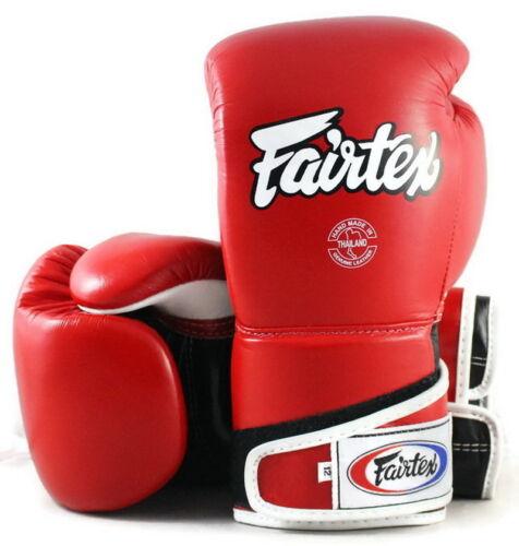 Fairtex BGV6 Gloves Muay Thai Boxing Red Black White Stylish Angular Sparring