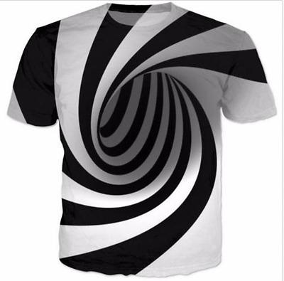 New Fashion Womens/Mens Hypnosis Funny 3D Print Casual T-Shirt