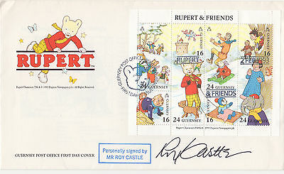 RUPERT personally signed ltd ed FDC - cover - ROY CASTLE