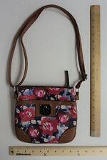 Women's ROSETTI Red Poppy & Purple Flowers Purse Hand Bag Cash & Carry Style