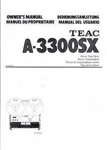 TEAC-Bedienungsanleitung-user-manual-owners-manual-fuer-A-3300-SX
