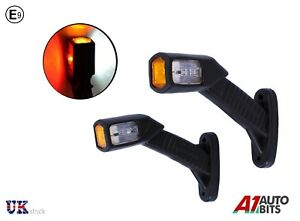 2x-Multi-Volt-Recovery-Side-Marker-Outline-Led-Lights-Lamps-Trailer-Truck-Lorry