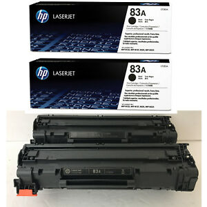 2PK-Genuine-HP-83A-CF283A-Black-Toner-Cartridge-LaserJet-Pro-M225DN-M127fn-NEW