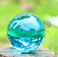Stand A3 Dark Blue Asian Natural Crystal Glass Healing Ball Sphere 40mm