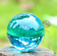 40mm-Asian-Rare-Natural-Quartz-Sea-Blue-Magic-Crystal-Healing-Ball-Sphere-Stand thumbnail 1