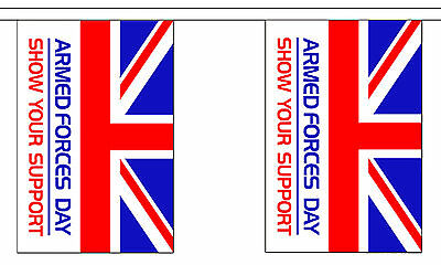 ARMED FORCES DAY 3m BUNTING 10 FLAGS flag 3 metres british military RAF ARMY