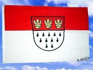 fahne flaggen stadt k ln rot wei mit wappen 150x90cm tdshop24 ebay. Black Bedroom Furniture Sets. Home Design Ideas