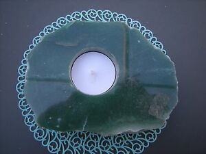 """Natural Aventurine Polished Top free Form Tealight Candle Holder 5"""" x 4"""" x 1"""""""