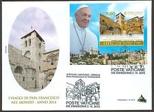 Vatican City Sc# 1602, Journeys of Pope Francis in 2014, First Day Cover