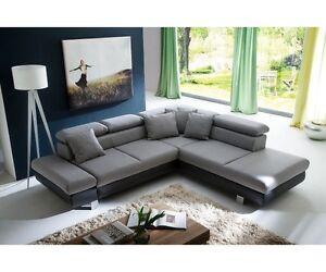 Couchgarnitur Wohnlandschaft Sofa Wohnzimmercouch 260 X 236 Cm Sun