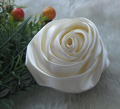 7x Large Big Satin Ribbon Rose Flower Bow Craft/ DIY/Wedding/Appliques A917