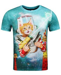 Astronaut Space Cat Funny Unisex T Shirt