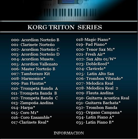 FABESIS Latin Samples para Korg Triton Le, Extreme, TR, Studio