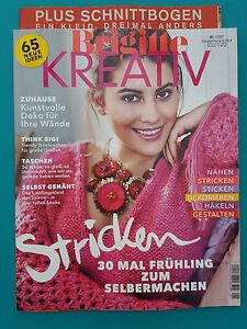 Brigitte Kreativ 65 NEUE IDEEN Nr.1/2017 + Schnittbogen ...
