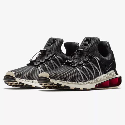 Nike Shox Gravity Men's Shoes Grey Black Red AR1999 006