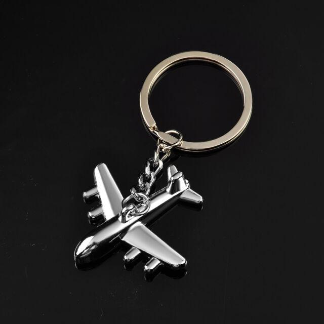 3D Classic Simulation Model airplane plane Keychain Key Chain Ring Keyring  New U b1813394d