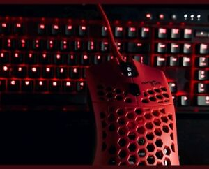Finalmouse Ultralight Air58 Ninja Red Cherry Gaming Mouse Brand New