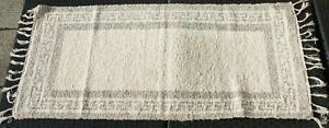 Teppich-Badteppich-gewebt-Maeander-natur-braun-beige-80x65-cm-Teppich-waschbar