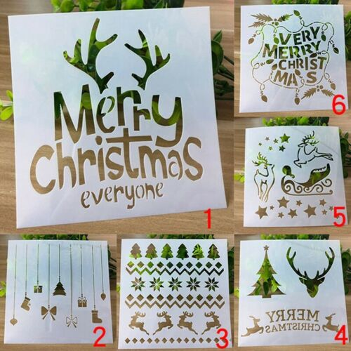 1pc Christmas Stencils Embossing Scrapbooking Craft Layering Painting Template