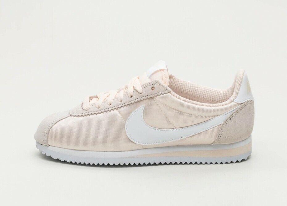 Détails sur Femme Nike Classic Cortez Nylon Taille UK 5 Goyave glaceblanc (749864 803) afficher le titre d'origine
