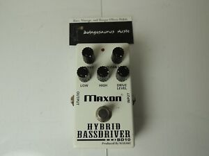 Maxon BD-10 Hybrid Bass Driver Overdrive Effects Pedal Free USA Shipping