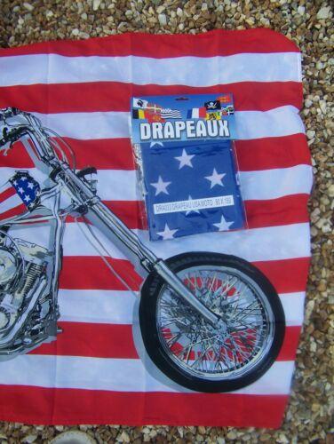 DRA033   DRAPEAU USA MOTO HARLEY   90X150 CM   NEUF AVEC  OEILLET  DE  FIXATION