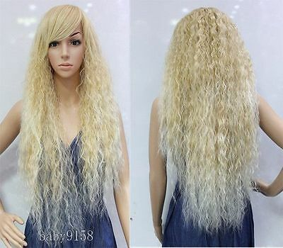 Popular Gentle Bohemian ear of corn fluffy curly Natural Pastoral Mix Gold wig