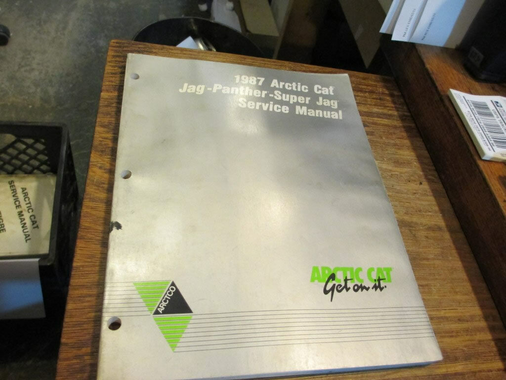 Arctic Cat Snowmobile Service Manual 1987 Jag Panther Super Jag 2254-351