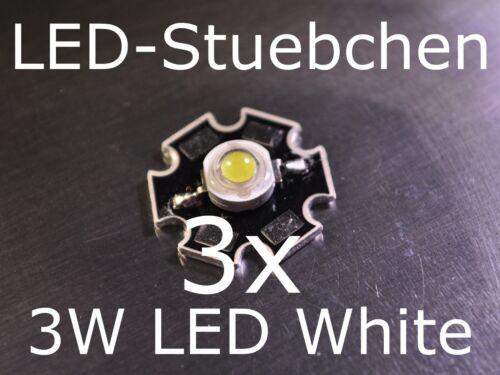 3x 3W High-Power LED Kaltweiss 700mA