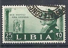 1941 LIBIA USATO FRATELLANZA D'ARMI 25 CENT - RR12567