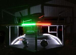 Boat Bow LED Lighting RED & GREEN Navigation Kit - XL Size