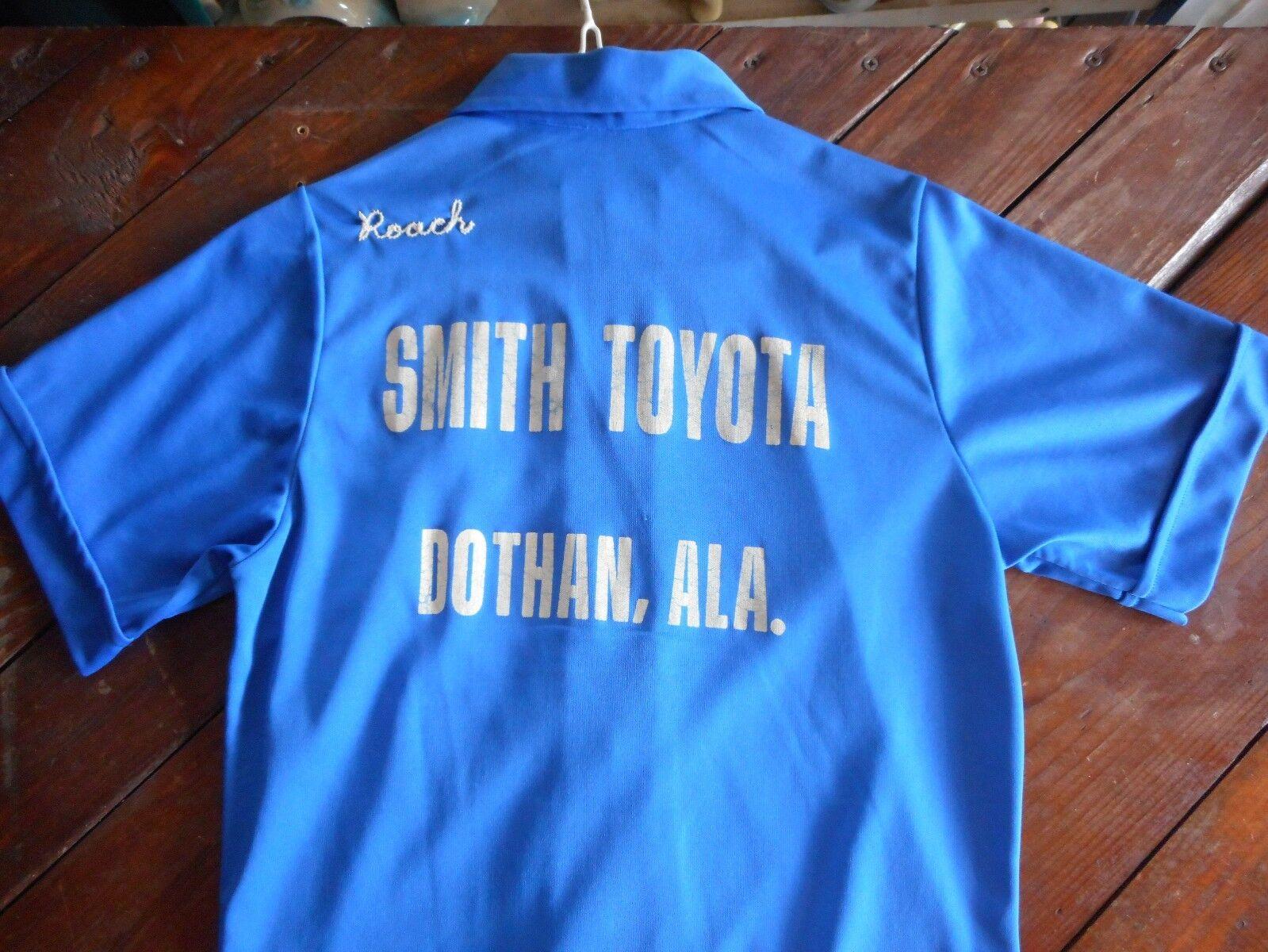 Rare 60's Dothan Alabama Smith Toyota bluee Women's Bowling Shirt