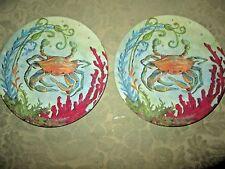 item 1 Set 2 MERRITT MELAMINE Sealife by Kate McRostie Crab 8  Round Salad Plates NEW -Set 2 MERRITT MELAMINE Sealife by Kate McRostie Crab 8  Round Salad ... & 8pc Certified Intl Kate McRostie Catch of The Day Melamine Plates ...