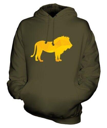 Motif Géométrique Lion Sweat à Capuche Unisexe Haut Cadeau Triangle King