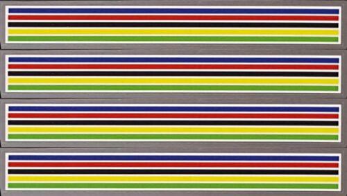 Olympic stripes White Separators sku Eddy901 Set of 4