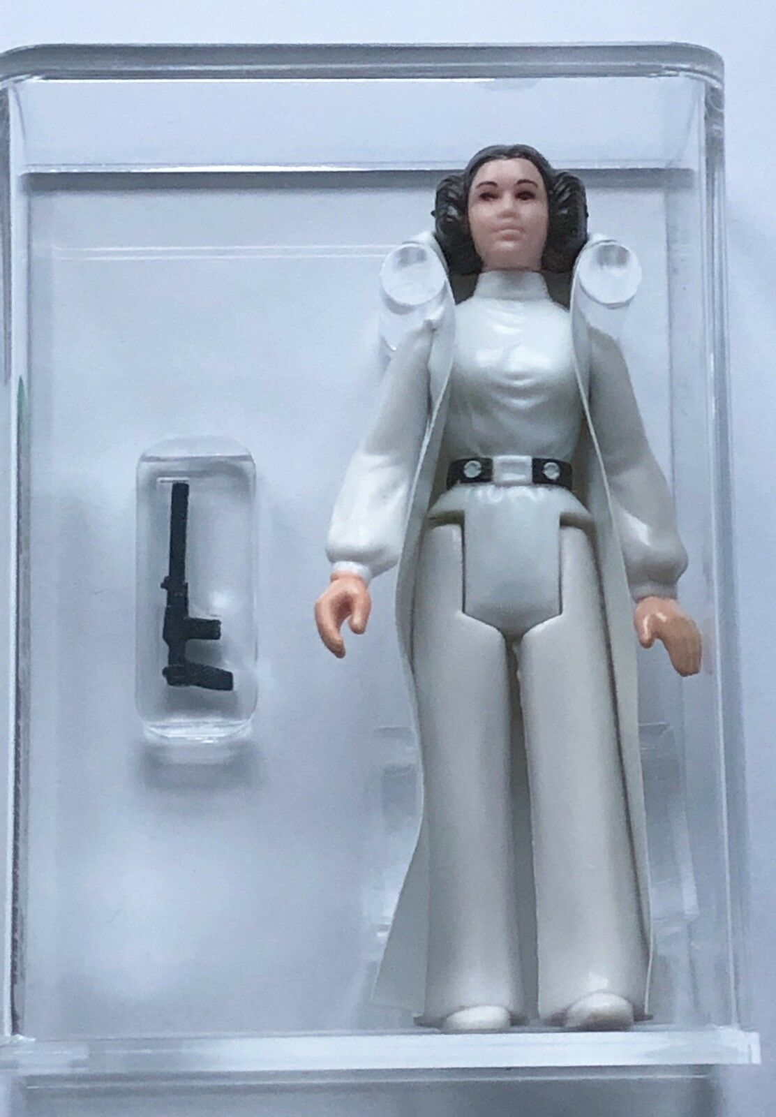 LOOSE VINTAGE STAR WARS PRINCESS LEIA ORGANA braun HAIR & BELT AFA 85 TAIWAN