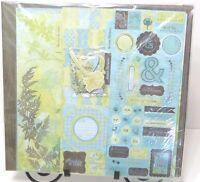 225p Scrapbook Album Kit 12 Paper Die Cut Dandelion Wish Flower Scout Boy Girl
