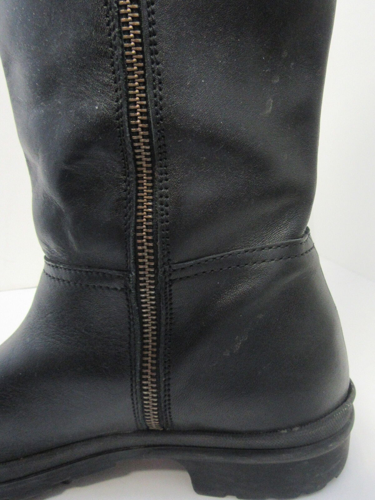 HUNTER BLACK AND BROWN LEATHER BOOTS WITH ZIPPER CLOSURE US US US 9.5 EUR 39.5 df30fa
