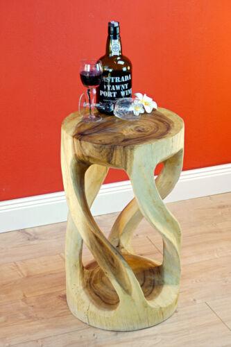 TABLE D/'APPOINT BOIS MASSIF salon table table en bois rond nature Palier Hell