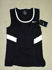 womens NIKE tennis black power tank top shirt size S NEW nwt $40