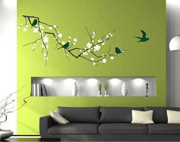 Cherry Blossom Branch (3 colors) - Vinyl Wall Decal Art