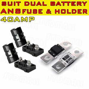 HOLDERS 40A ANS MIDI FUSES CABLE LUGS FOR DUAL BATTERY OR SOLAR BOLT DOWN