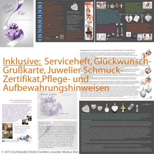 moderner Schutzengel betende Hände mit Namen Gravur und Kette Echt Silber 925