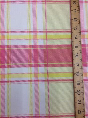 Cotton Curtain Fabric Material Bed Cushion sheet Multicolour Tartan