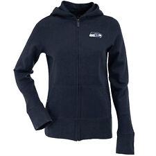 NEW Antigua Seattle Seahawks Womens Signature Full Zip Hoodie - Navy - Small