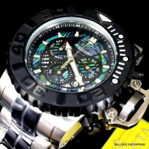 Invicta Sea Hunter Gen II Abalone Swiss Mvt Chronograph 70mm Steel Watch New
