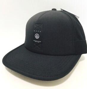 e5f7057f5c1 New NEFF Sprinter Trucker Stretch Cap Hat Unisex One size Black Z34 ...