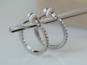Ring In Kaars.Rings Ears Clips Small Creole Ring Silver Crystal Class Marriage M2