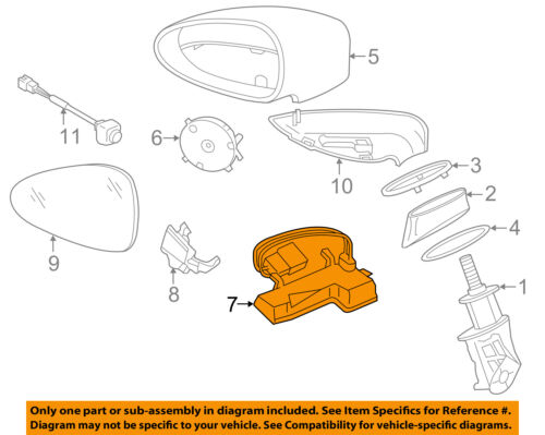 PORSCHE OEM Door Side Rear View Mirror-Puddle Light Lamp Right 97063161202