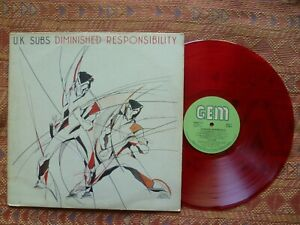Uk Subs Diminished Responsibility Lp Uk Gem Red Wax